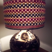 Creating a lampshade cover from your stash
