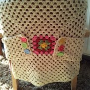 Atlast..one yarn bombed chair